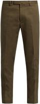 Valentino Slim-leg cotton-gabardine chino trousers
