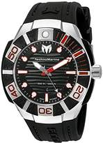 Technomarine Men's 'Black Reef' Swiss Quartz Stainless Steel Casual Watch (Model: TM-515010)