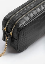 MANGO Croc-Effect Cross Body Bag