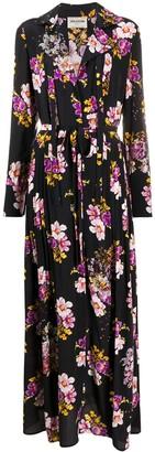 Zadig & Voltaire Floral Shirt Maxi Silk Dress