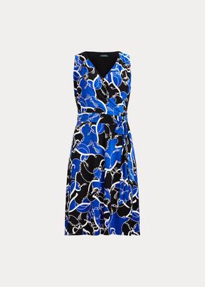 Ralph Lauren Print Tie-Waist Midi Dress