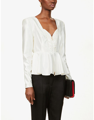 Rotate by Birger Christensen Annie V-neck satin top