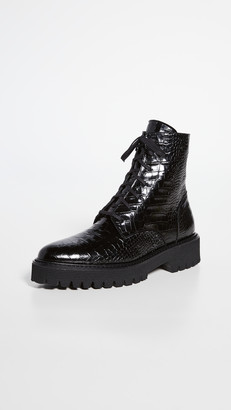 Freda Salvador Emi Lug Sole Lace Up Boots