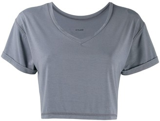 Styland cropped V-neck T-shirt