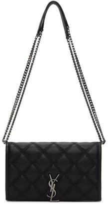 Saint Laurent Black Becky Chain Wallet Bag