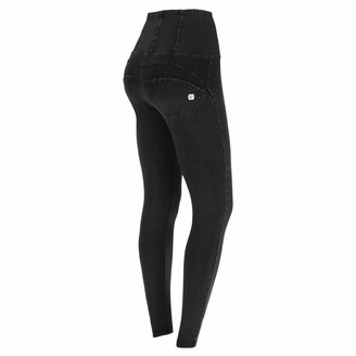 Freddy WR.UP high-Rise Skinny-fit Trousers in Stretch Denim - Black Jeans-Black Seams - Small