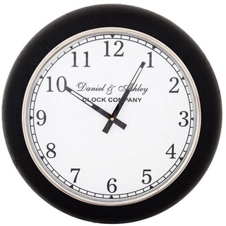 J & K Europe Imports Leather Wall Clock Small
