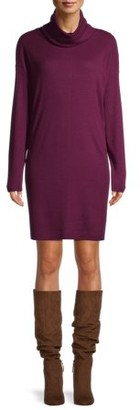 Time and Tru Women's Cowlneck Dress