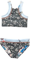 Calypso Maaji Kids Sage Reversible Bikini Set Swimsuit (Toddler/Little Kids/Big Kids) (Sandbar Blue Floral) Girl's Swimwear Sets