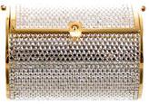 Judith Leiber Crystal Embellished Cylinder Clutch