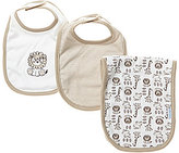 Little Me Safari Bib & Burp Cloth 3-Piece Set
