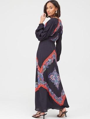 Very Scarf Print Kimono Sleeve MaxiDress - Print