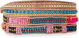 Nakamol Woven & Beaded Wrap Bracelet, Pink