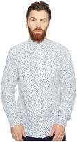 Ben Sherman Long Sleeve Mod Print Geo Shirt Men's Clothing