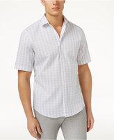 Alfani Men's Vertical Dash-Pattern Cotton Shirt, Only at Macy's