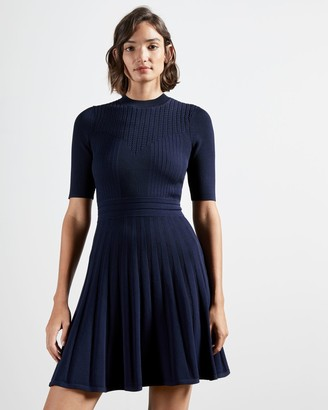 Ted Baker Stitch Detail Skater Dress