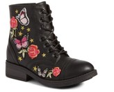 Steve Madden Girl's Roaring Embroidered Combat Boot