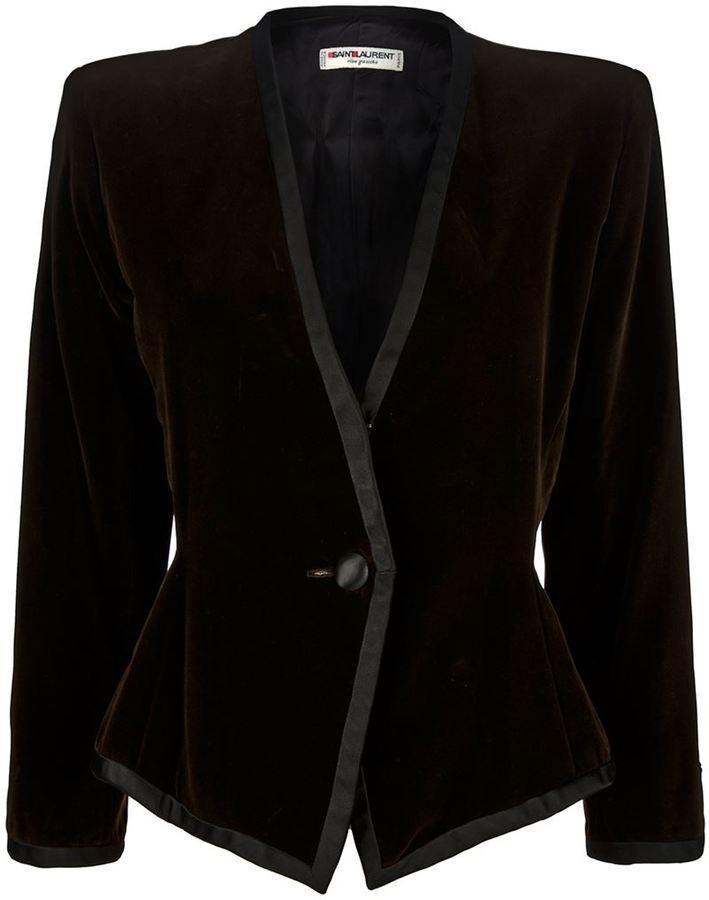 Saint Laurent Vintage collarless jacket