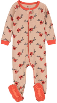 Leveret Beige Carriage Footed Sleeper Pajama