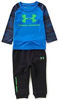 Under Armour Baby Boys 12-24 Months Raglan-Sleeve Logo Tee & Pants Set