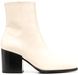 AEYDĒ Leandra zip-up leather boots