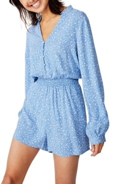 Cotton On Woven Luella Long Sleeve Playsuit