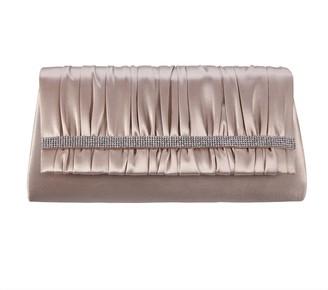 Nina Handbags Rhinestone Shirred Clutch - Locklin