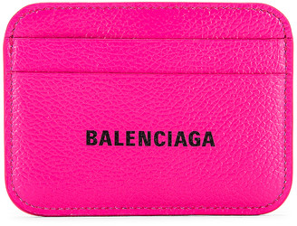 Balenciaga Cash Card Holder in Acid Fuchsia & Black | FWRD