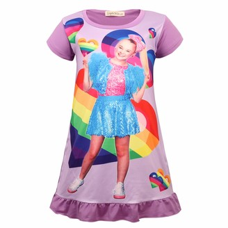 KISSI Little Girls Nightdress Nightie Multiple-Colored Nightgown Shorties for Sleeping Toddler Age 5 to 12 Years