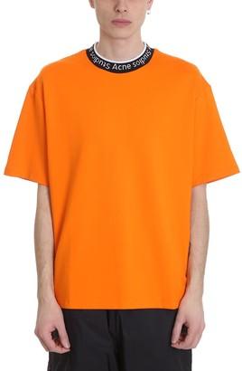Acne Studios Extorr T-shirt In Orange Cotton
