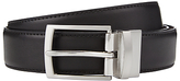 John Lewis Reversible Leather Belt, Black/brown