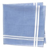 Hermes Blue Cotton Pocket Square.