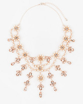 Le Château Gem & Pearl-Like Floral Necklace
