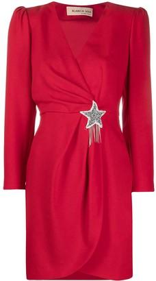 Blanca Vita Star-Embellished Wrap Dress