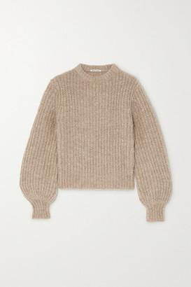 Reformation Tatum Ribbed Alpaca-blend Sweater - Beige