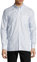 Givenchy Stars Print Button Down Sportshirt