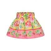Miss Blumarine Miss BlumarineBaby Girls Yellow & Pink Floral Skirt