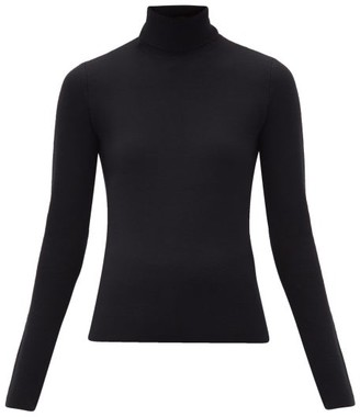 Gabriela Hearst Beckwith Roll-neck Wool-blend Sweater - Black