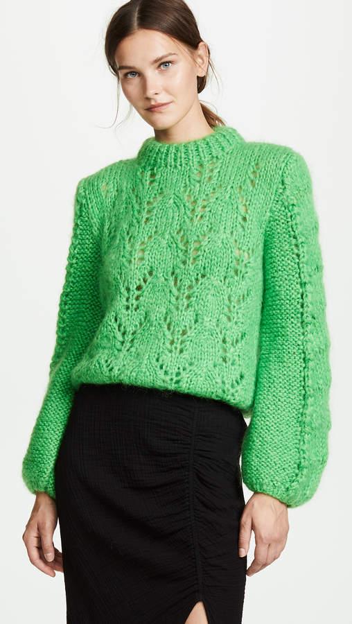 Ganni Julliard Cable Knit Sweater