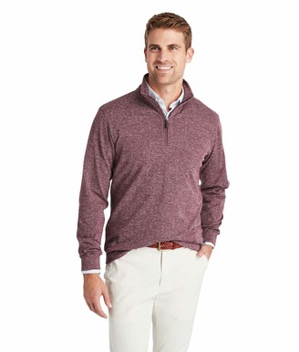 Vineyard Vines Men's Herringbone Quarter Zip Pullover
