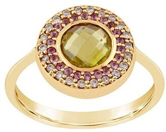 Dinny Hall 14kt yellow gold diamond Double Halo pinky ring
