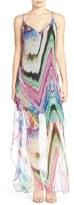 Charlie Jade Print Silk Chiffon Maxi Dress