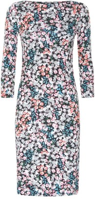 Erdem Half-Sleeve Fitted Floral Sheath Dress