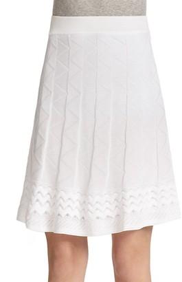 M Missoni Patterned Knit A-Line Skirt