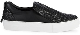 Buscemi Weave Leather Slip-On Sneakers