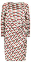 Marina Rinaldi Printed Side Knot Dress