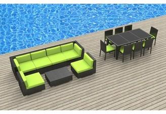 Bayou Breeze Arlington 16 Piece Complete Patio Set with Cushions Cushion Color: Lime Green