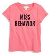 Kate Spade Toddler Girl's Miss Behavior Graphic Tee