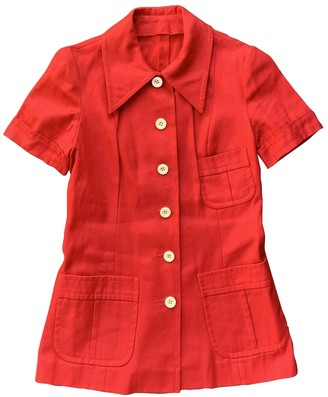 Max Mara Red Cotton Top for Women Vintage