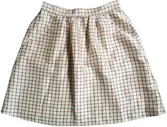 A.P.C. Ecru Silk Skirt for Women